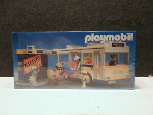 VINTAGE 1988 MINT IN BOX FACTORY SEALED PLAYMOBIL City Bus And Shelter # 3782