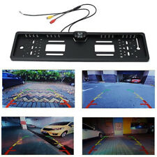 EU Car License Plate Frame Rear View Reverse Backup Night Vision Camera Easy Use