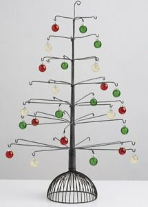 """Vintage Metal Wire Display Tree 42 Hooked Branches Ornaments Christmas 26"""" x 16"""""""