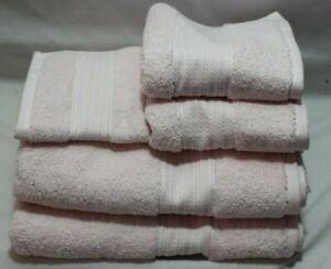 Ralph Lauren Greenwich Seashell Pink Five Pc. Bathroom Towel Set Light Pink New