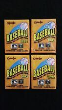 1992 OPC Baseball Wax Pack 4 Pack Lot