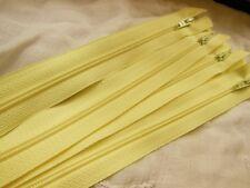 grande fermeture éclair 50 cm jaune clair non- séparable  robe