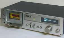 Vintage Stereo Audio Cassette Deck Realistic alloy face made in Japan