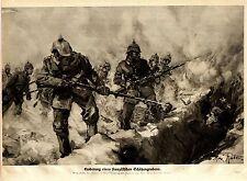 Prof. Max Rabes, Berlin Eroberung eines französischen Schützengrabens v.1914/15