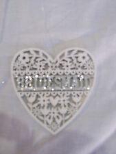 Gisela Graham - Bridesmaid Laser Cut Glitter Heart Decoration