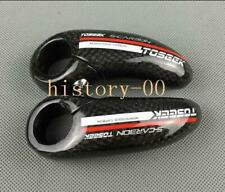 3K Carbon Fiber MTB Mountain Road Bike Handlebar Bar End Bicycle ends 22.2mm Red