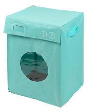 Panier à linge '' Lave Linge / Machine à laver ''  Bleu Turquoise    Corbeille