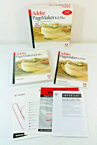 Adobe Pagemaker 6.5 Plus for Windows User Manuals and Box - NO DISKS