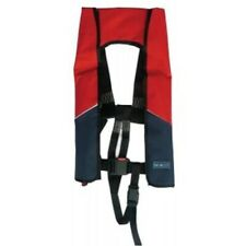 Seago 190N Adult Automatic Lifejacket with Crotch Strap. Red/Blue Design.