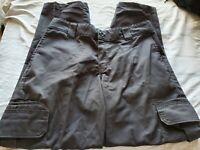 Dickies Men's Black Regular Fit Straight Leg Cargo Pants 32WX30L NWT