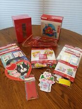 Lot Valentine Crafts Party Stickers Cards Hearts Red Box Decorations Straws