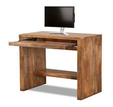 Dakota Light Mango Computer Table Desk Solid Wood Like Oak Indian Furniture New