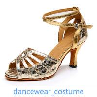 Ladies Latin Tango Samba Party Ballroom Salsa Dance Shoes Heels Sandals EU 34-42