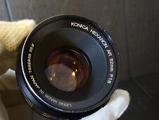 Konica Hexanon AR 52mm f 1.8 lente vintage lens