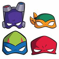 RISE TMNT Party 8 Paper Masks Teenage Mutant Ninja Turtles Costume Dress-up Room