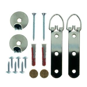 Heavy duty picture hanging kit for all walls  - Plasterboard/Brick/Concrete