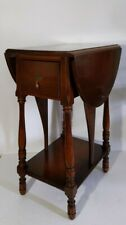 Holland Furniture - Antique 2-Tier  Drop Leaf Butterfly Table Dovetailed Drawer