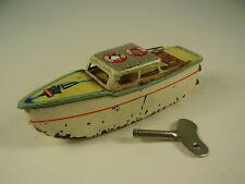 Antikes Blech Boot von Arnold mit Uhrwerkaufzug
