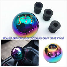 Colourful Aluminum Ball Shape Manual Car Gear Stick Shift Knob 8/10/12mm Adapter