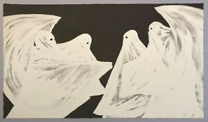Marcel Dzama, Scared of His Own Ghost, 2008   Signed, Numbered, Fine Art Print