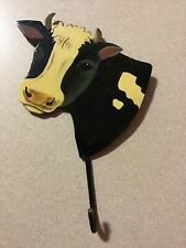 Painted Metal Cow Wall Hook