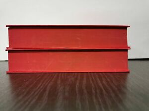 Box of 2 Books; Red Page Edges Hardback 5cm+ Thickness, Ideal for BOOK FOLDING