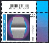 3536 postfrisch Eckrand rechts ob. BRD Bund Deutschland Briefmarke Jahrgang 2020