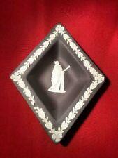 "Wedgwood Black Jasperware Diamond Shaped Plate, 5.5""x4.5"""