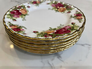 Royal Albert OLD COUNTRY ROSES Set Of 6 Side/Tea Plates 1st Quality