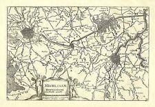 Antique map, Mechliniae Dominium