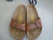 Papillio By Birkenstock brown leather womens slides sandals sz 40
