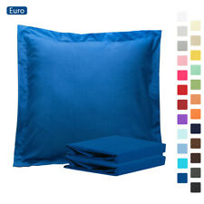 """100% Brushed Microfiber Euro Pillow Sham Cushion Cover 2 Pack 26"""" x 26"""" 24 Color"""