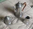 Vintage+Metawa+Holland+Pewter+Coffee+%26+Tea+Set+w%2F+Sugar+Bowl+and+Creamer