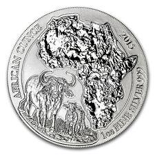 2015 Rwanda 1 oz Silver African Buffalo BU - SKU #85992