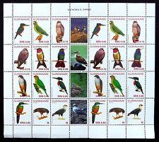 SURINAME 2004 Complete Birds Sheetlet with Different Labels U/M FP9669