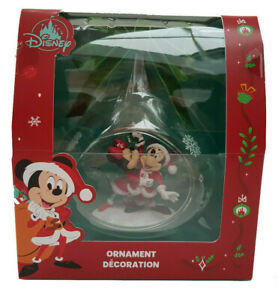 Disney Store Mickey Minnie Mouse Holiday Cheer 2020 Xmas Tree Decoration Bauble