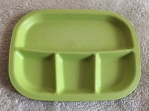 Boys Lime Green Plastic Divided Plate 4 Sections