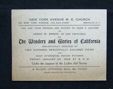 1909 New York Avenue Methodist Episcopal Church Ad Card