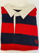 Chaps Rugby Shirt Men's XL 100% Cotton Stripes