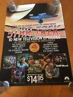 Star Trek Home Video Promotional Poster Of 10 Television Episodes 1986