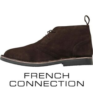 French Connection Men's Desert Boots Dark Brown Shoes - UK 6 EU 40 - RRP £89.99