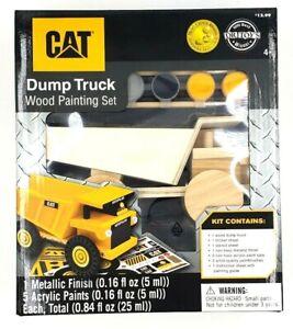 CAT Dump Truck Wood Painting Kit Mom's Choice Award Toy