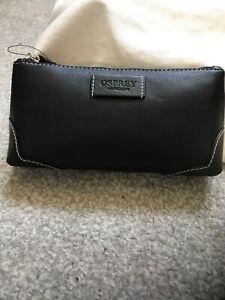 Osprey by Graeme Ellisdon Leather Make up Bag - new