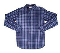 Columbia Mens Shirt Blue Size Medium M Plaid Vapor Ridge Button Front $50 #067