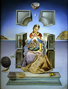 Salvador Dali Madonna reproduction of painting  8X12 canvas print art poster