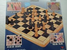Solid Wood Boards Family 10 Game Center/ten classic Boards game