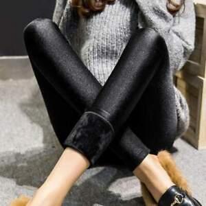 Autumn Winter Thick Black Cashmere Slim Warm Pants Outside Legging
