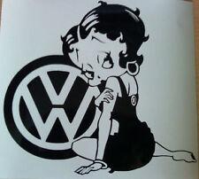 betty boop vw girls vinyl car sticker rear window side bumper graphic bonnet fun
