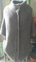 *Elsamanda* Cardigan sz M Batwing Wool & Alpaca v.warm Made in Italy