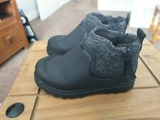 Zara Baby Boys winter Ankle Boots Size 23 (Uk5.5)black.